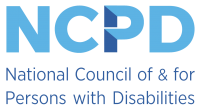 National Council of & for Person with Disabilities logo